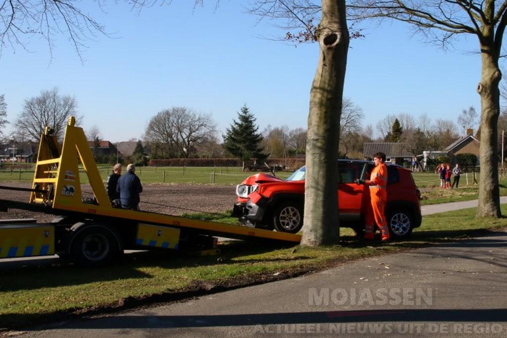Auto botst tegen boom in Annen