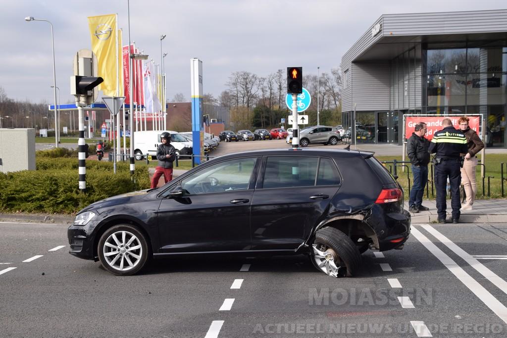 Vreemd ongeval op de Balkengracht/ Balkenweg in Assen