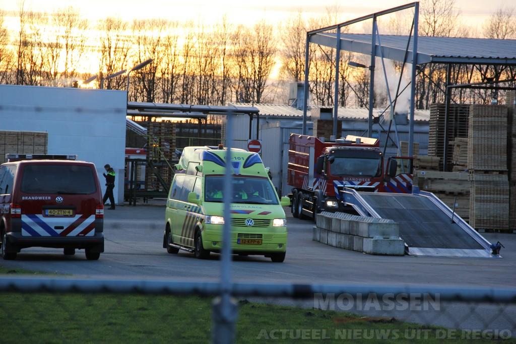 Brand bij fabricagebedrijf Faber Pallets aan de Hoofdvaartsweg in Assen