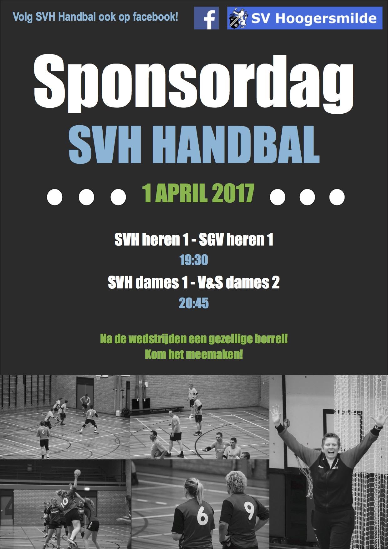 1 april 2017 – Sponsordag SV Hoogersmilde Handbal