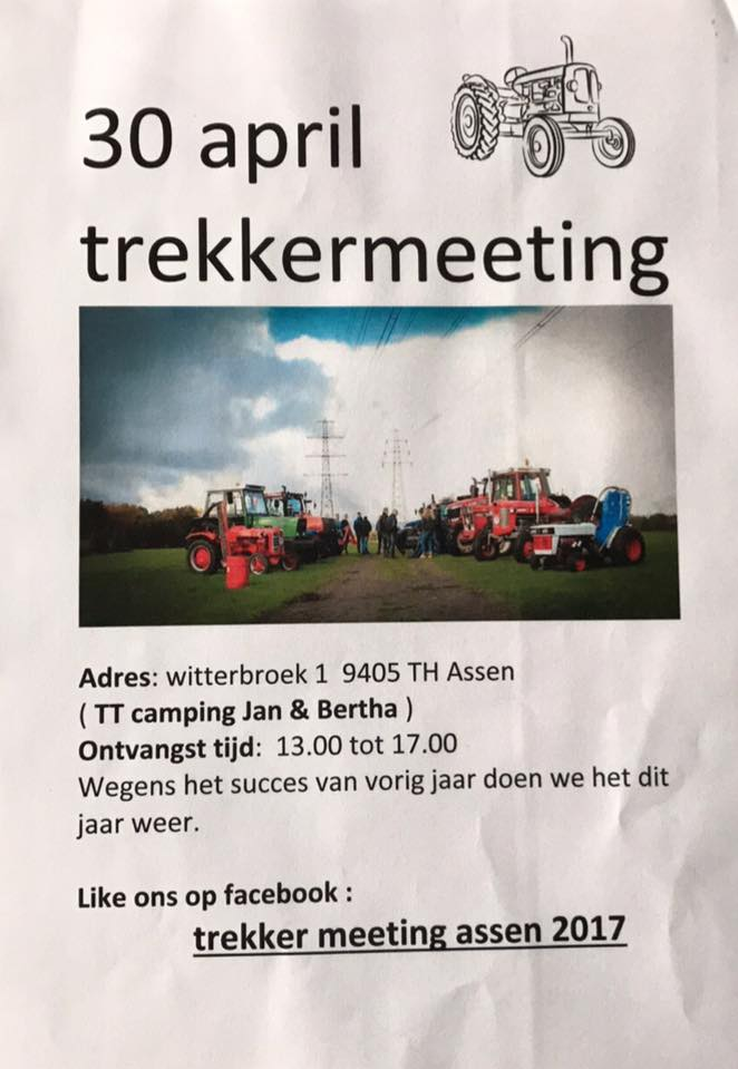 Trekker meeting Assen 30 april 2017