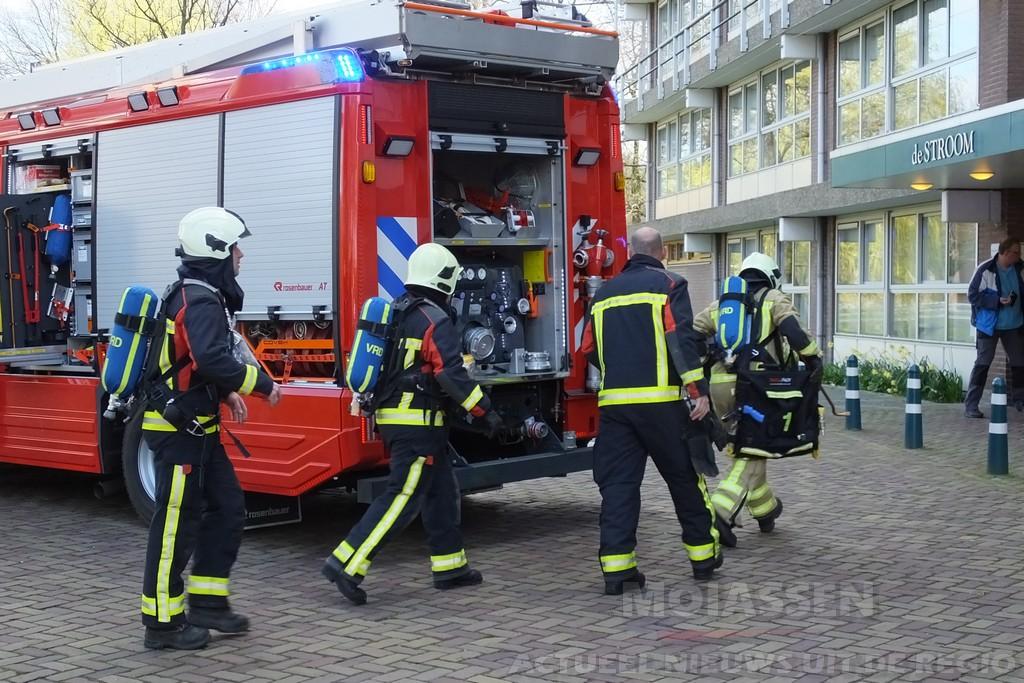 Brand in flatappartement aan de Stroom in Assen