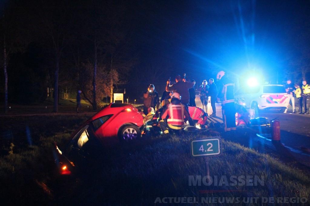 36-jarige man uit Assen zwaargewond bij eenzijdig verkeersongeval op de Asserstraat (N373) bij Zuidvelde
