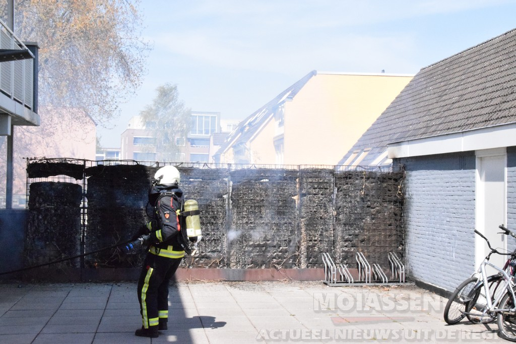 chutting in de brand aan de Omloop in Assen