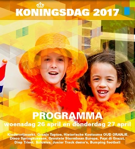 Programma voor KONINGSNACHT EN KONINGSDAG 2017