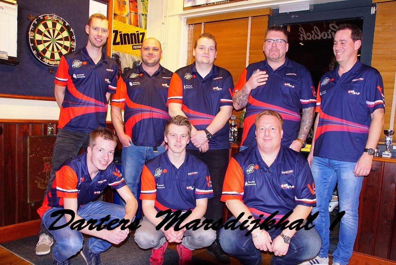 Darters Marsdijkhal 1 winnen titel in eredivisie