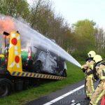 Bestelbusje voor tweede keer in de brand op N33
