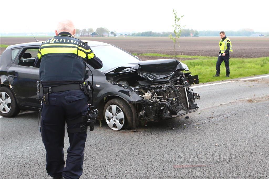 N33 tijdelijk dicht na ongeluk