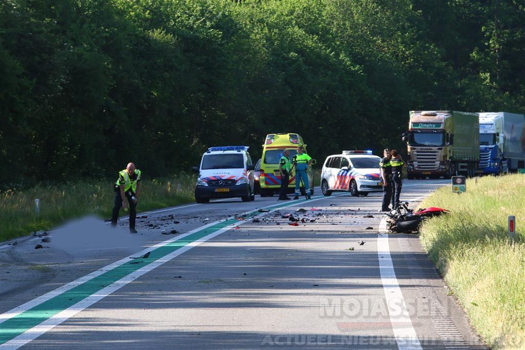 Motorrijder overleden bij aanrijding op N34 Odoorn