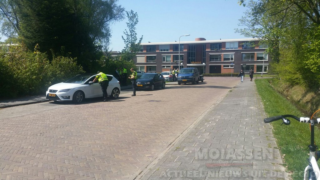 Verkeerscontrole gehouden in Assen door de politie