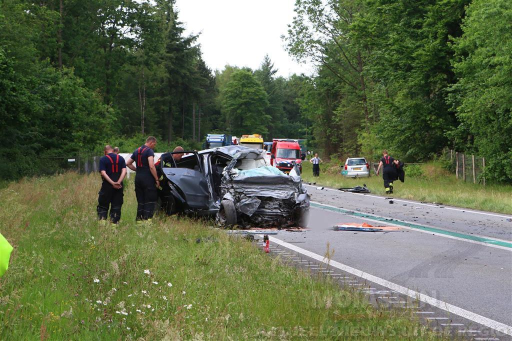 59-jarige man uit Eext overleden door ongeluk op N34 bij Odoorn
