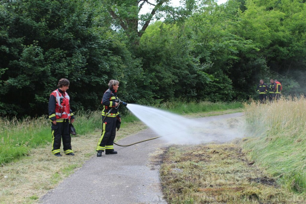 Buitenbrand aan de Smetanalaan in Assen