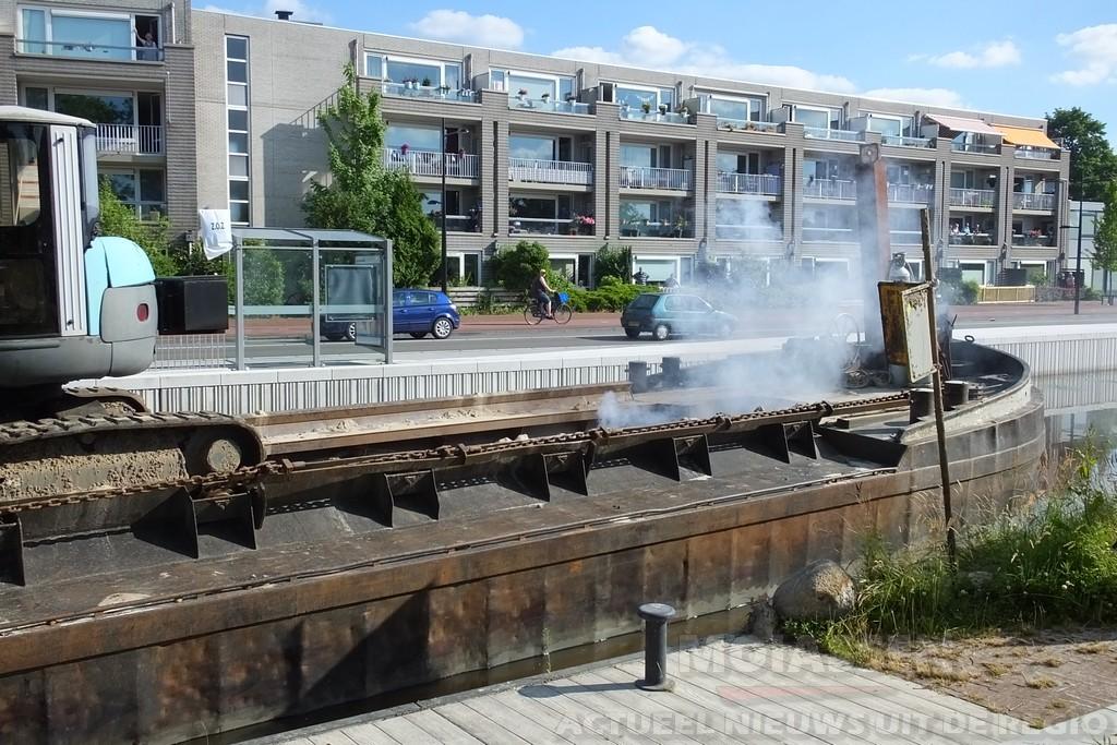 Baggerwerkzaamheden stopgezet in Kanaal Assen
