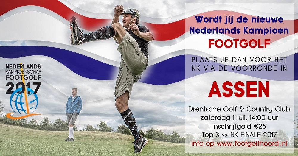 Zaterdag 1 juli voorronde NK FootGolf in Assen