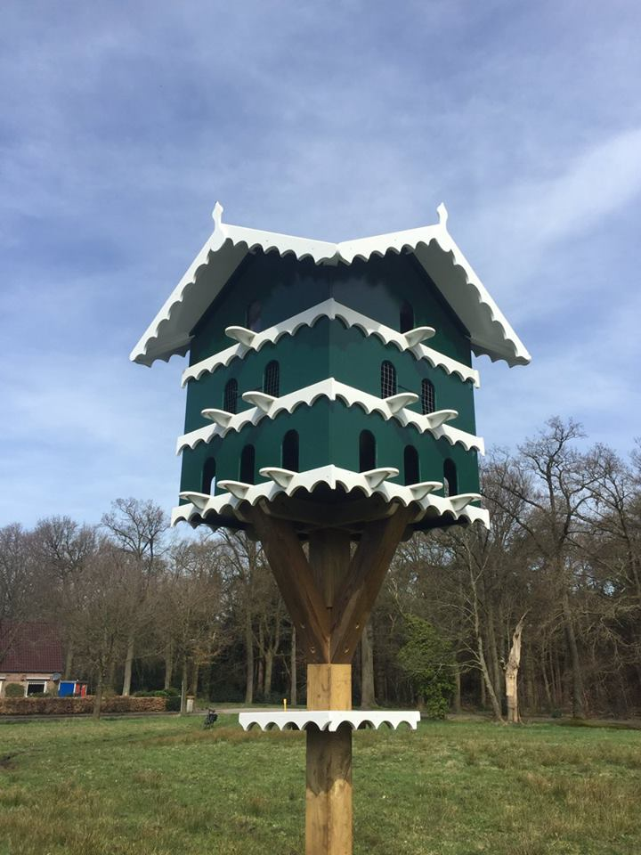 De duiven zijn terug op landgoed Valkenstijn