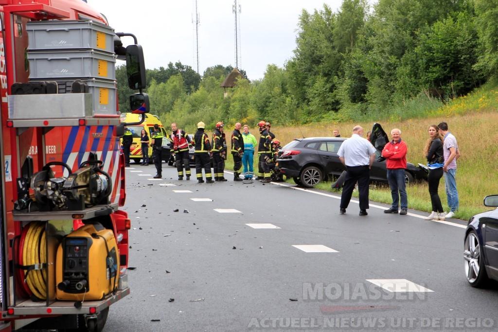 Persoon gewonde bij botsing op N34 bij Borger