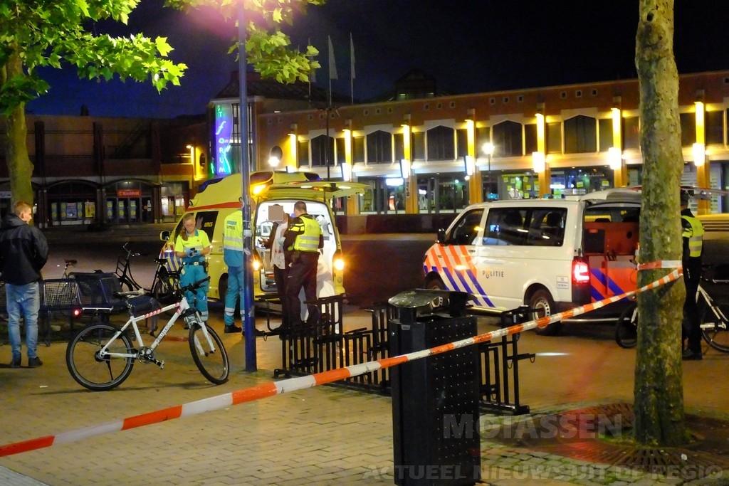 Man gewond bij overval op Koopmansplein in het centrum van Assen, dader voortvluchtig (Update)