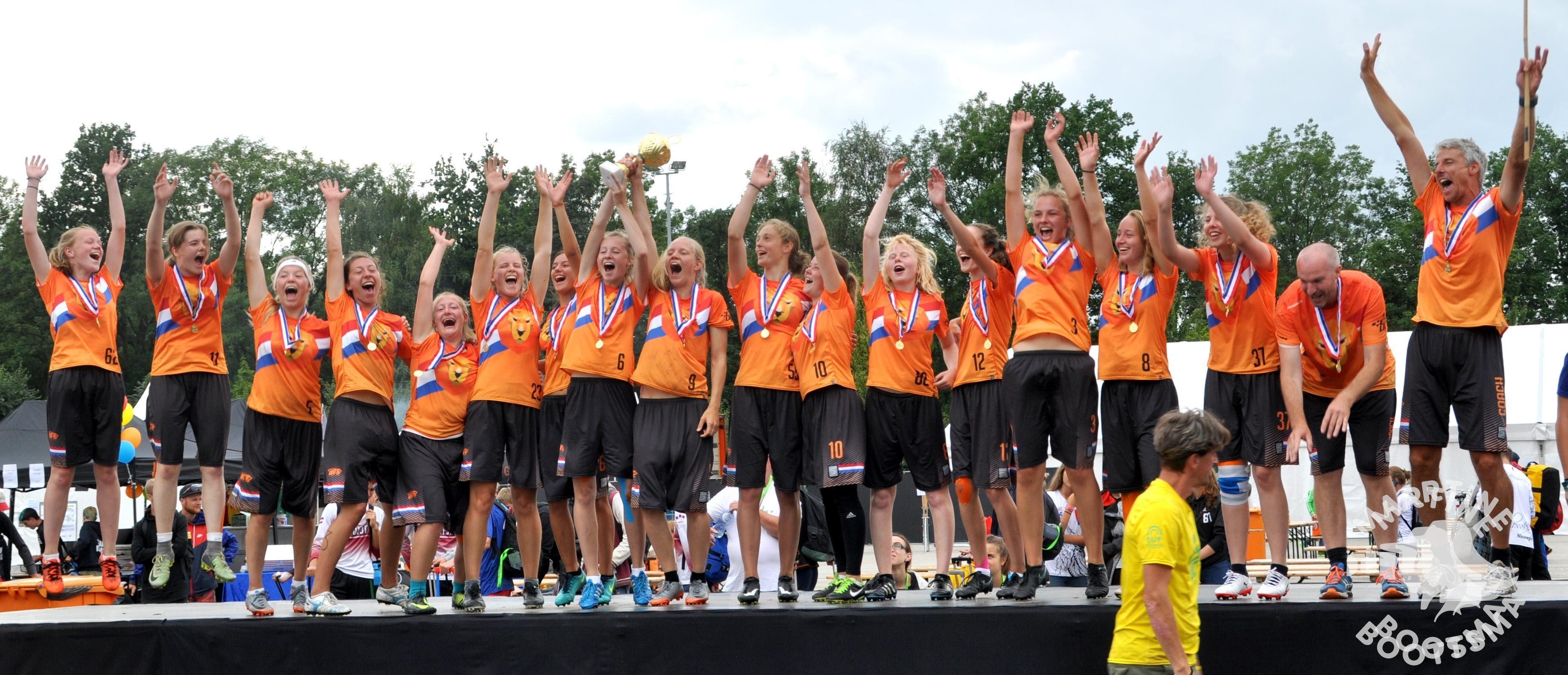 Nederlandse dames frisbee kampioen van Europa