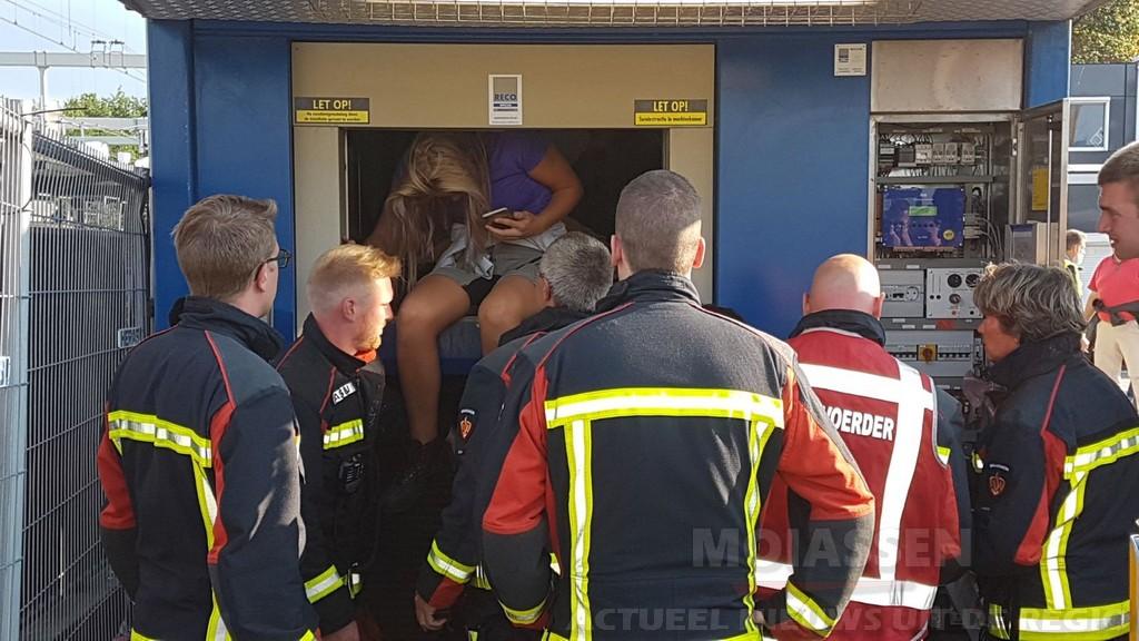 Weer mensen vast in de lift bij de NS-station in Assen