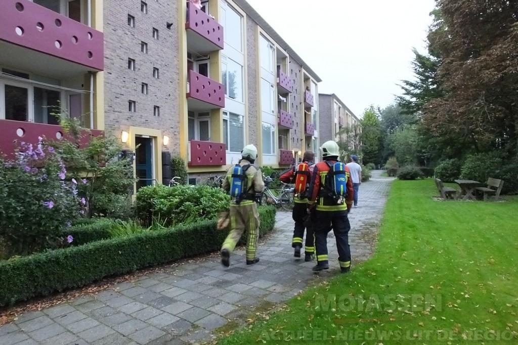 Keukenbrand aan de Berkenstraat in Assen-Oost