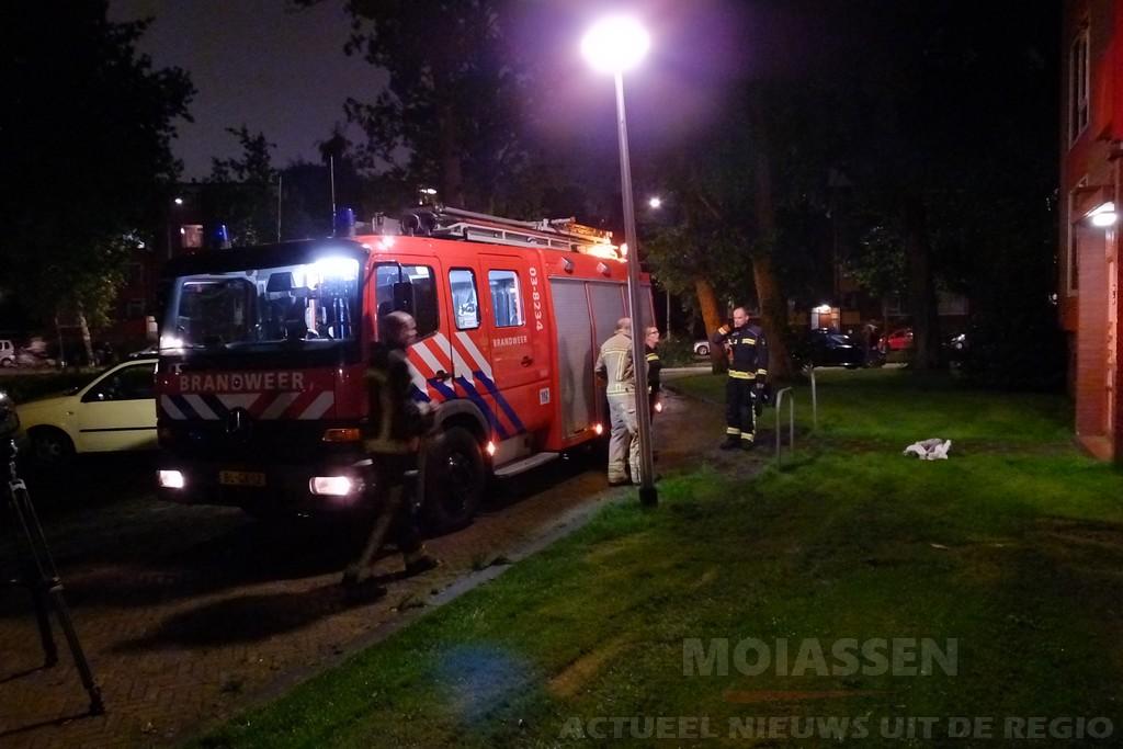 Keukenbrand in een flat aan de Thorbeckelaan in Assen