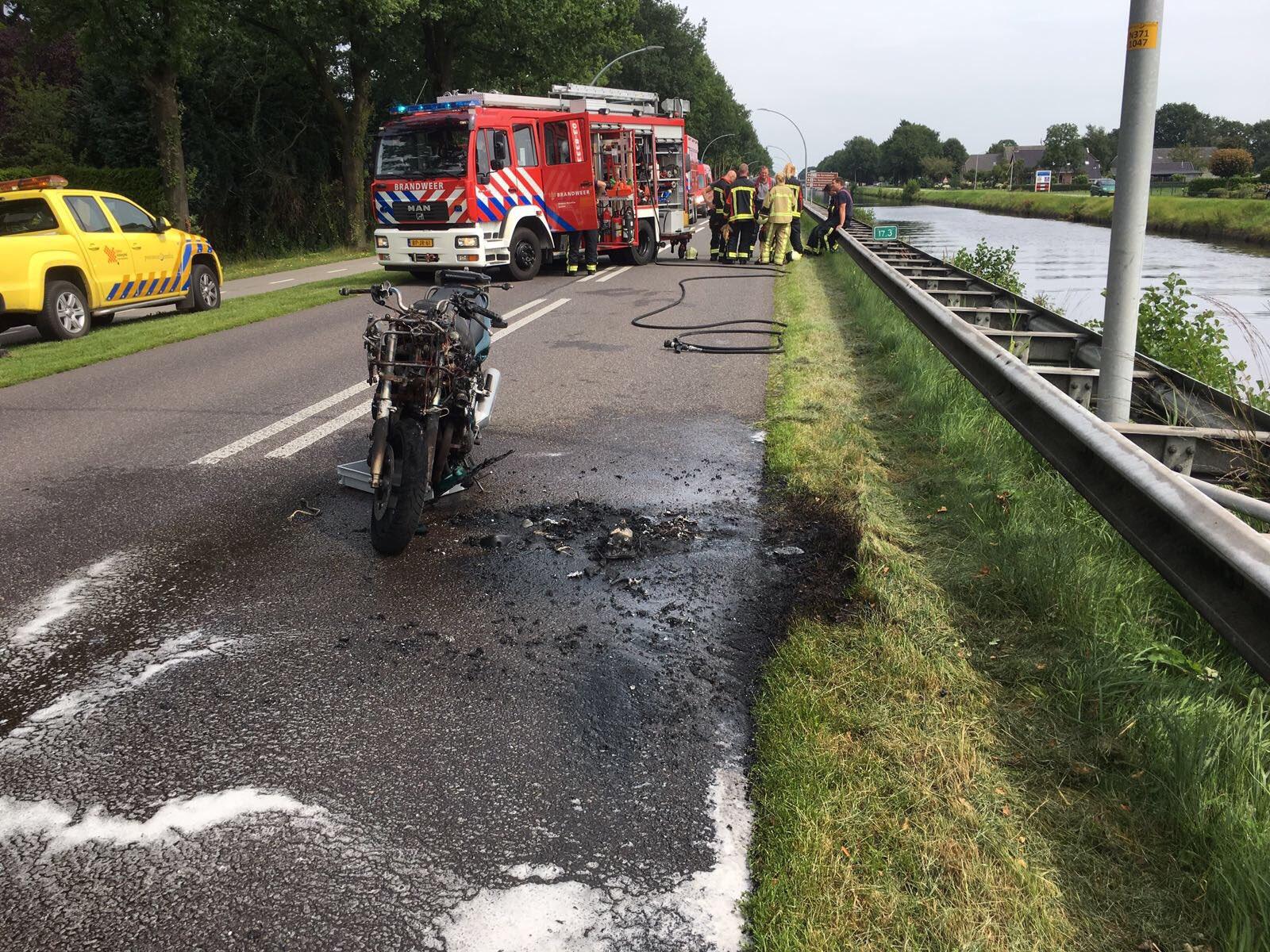 Motor brandt af in Hoogersmilde