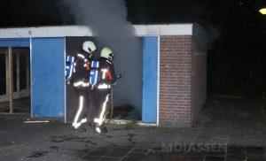 Brandstichting in schuur van leegstaande school
