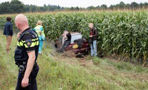 Inzittende vlucht na ongeval op de N34 bij Drouwen