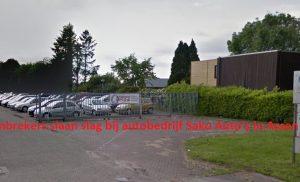 Inbrekers slaan slag bij autobedrijf Sako Auto's in Assen