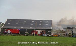 Brand in drooginstallatie van een biovergister in Donderen