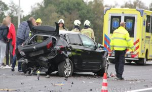 Ravage na verkeersongeval op A28