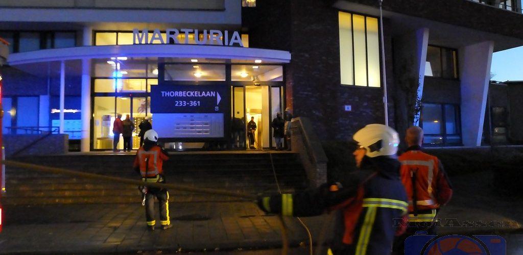 Brandweer Assen-west gealarmeerd voor woningbrand Thorbeckelaan in Assen