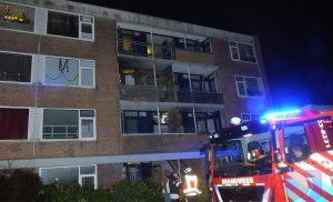 Brandje op balkon van flat aan de Schultestraat in Assen