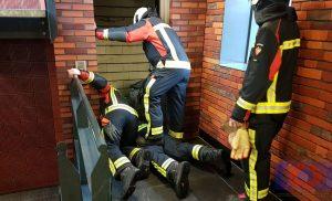 Man opgesloten gezeten in de lift in de parkeergarage Triade Assen