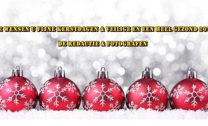We wensen u fijne kerstdagen & veilige en een heel gezond 2018