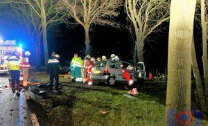 Gewonden na zwaar ongeluk op Hunzeweg bij De Groeve