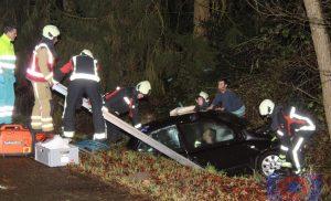 Eenzijdig verkeersongeval aan de Selma Lagerlöflaan in Assen