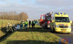 Vrouw gewond bij ongeval op de A28 bij Assen