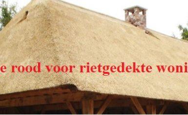 Univé: Code rood voor rietgedekte woningen
