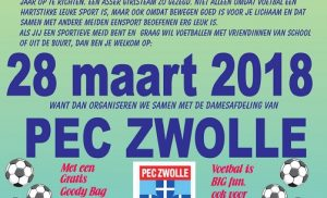 Asser Boys organiseert meidenclinic met PEC Zwolle