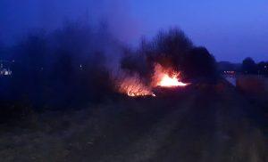 Brandweer Assen blust bermbrand langs A28 in Assen