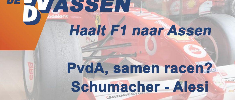VVD ÉN PVDA HALEN FORMULE 1 NAAR ASSEN
