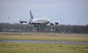 Boeing 747 voor het eerst op Eelde