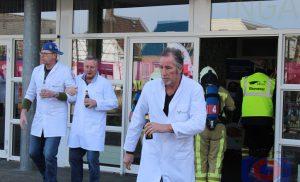 Brandweerwedstrijden: Brand bij scholengemeenschap Dr. Nassau College (Penta) in Assen