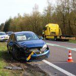 Twee auto's betrokken bij kopstraat botsing op N34 Gieten / Anloo