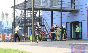 Brandweer van Assen-Oost actie voor kleine lekkage bij Wilhelmina ziekenhuis