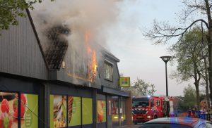 Grote brand in supermarkt Plus Rolde tijdig bedwongen