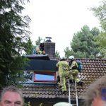 Dakbrand bij woning in Zeegse