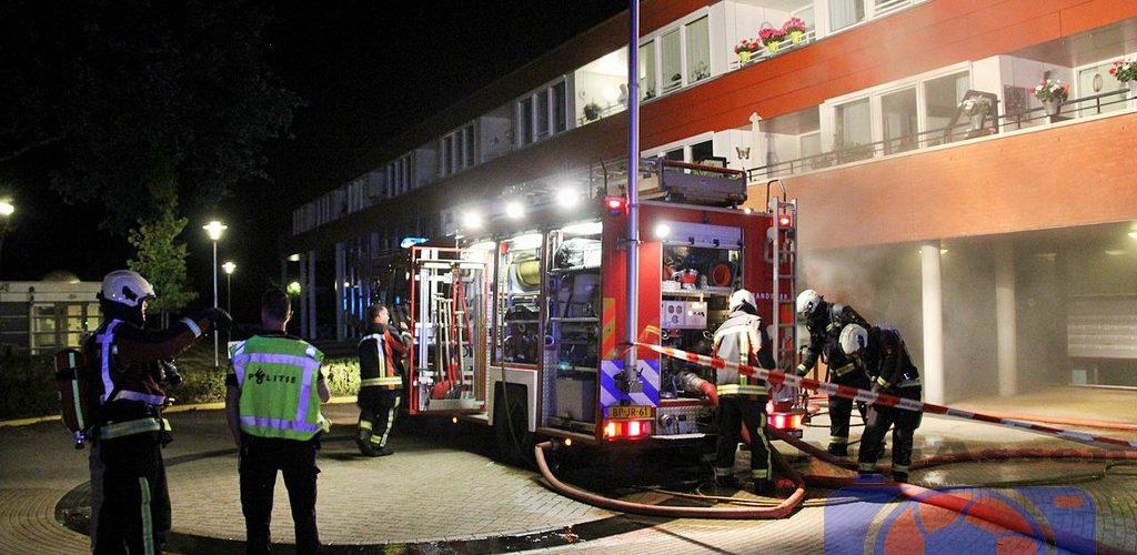 Brand in woon/zorgcomplex 't Beurtschip in Smilde; bewoners midden in de nacht ontruimd