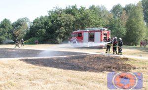 Brandweerkorpsen Assen en Smilde bestrijden buitenbrand bij Baggelhuizerpad Assen